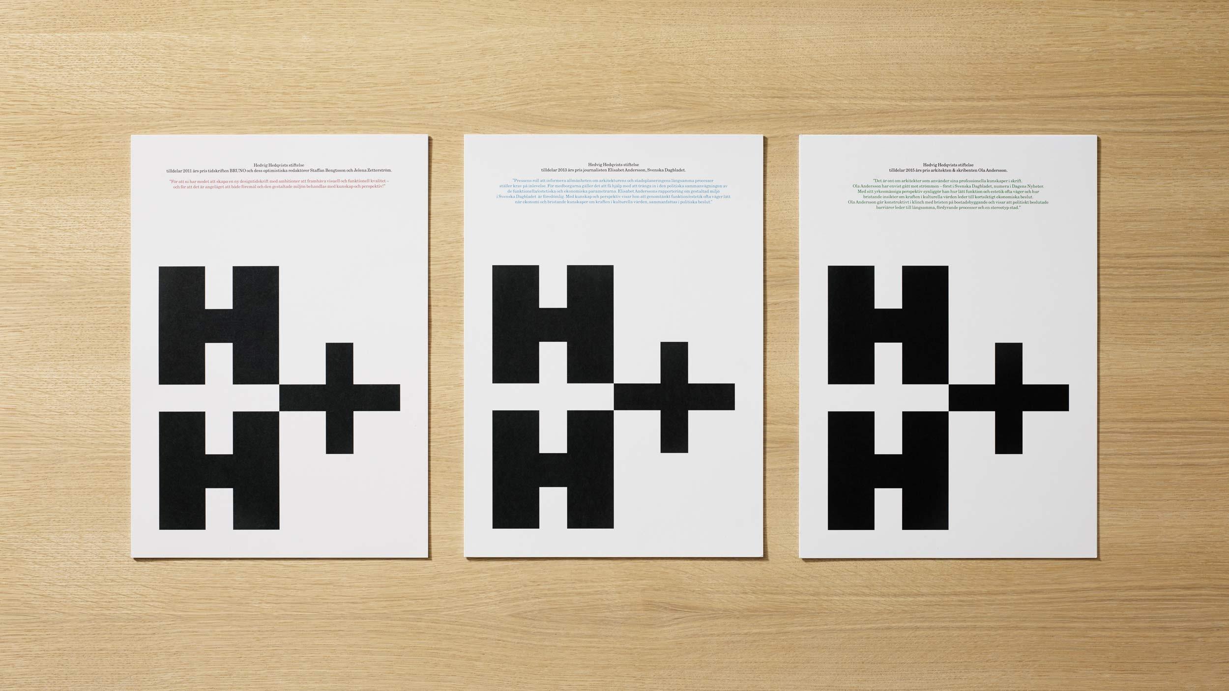 Hedvig Hedqvist Foundation – graphic identity