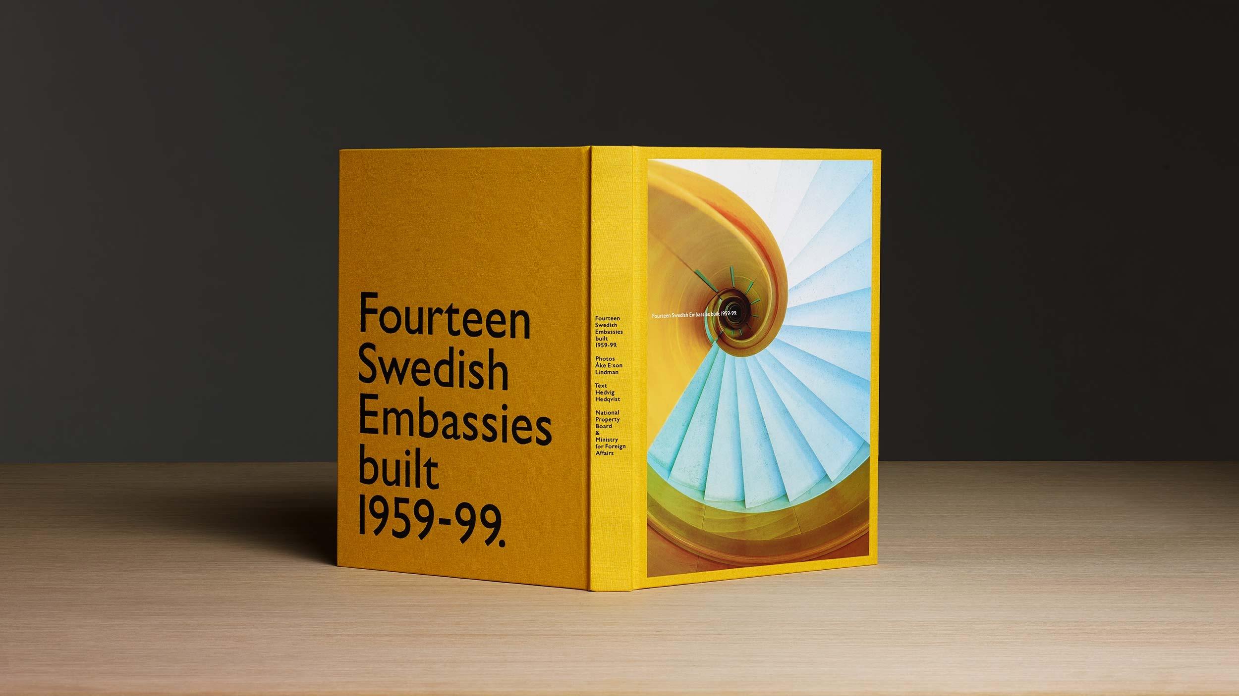 Fourteen Swedish Embassies – book design