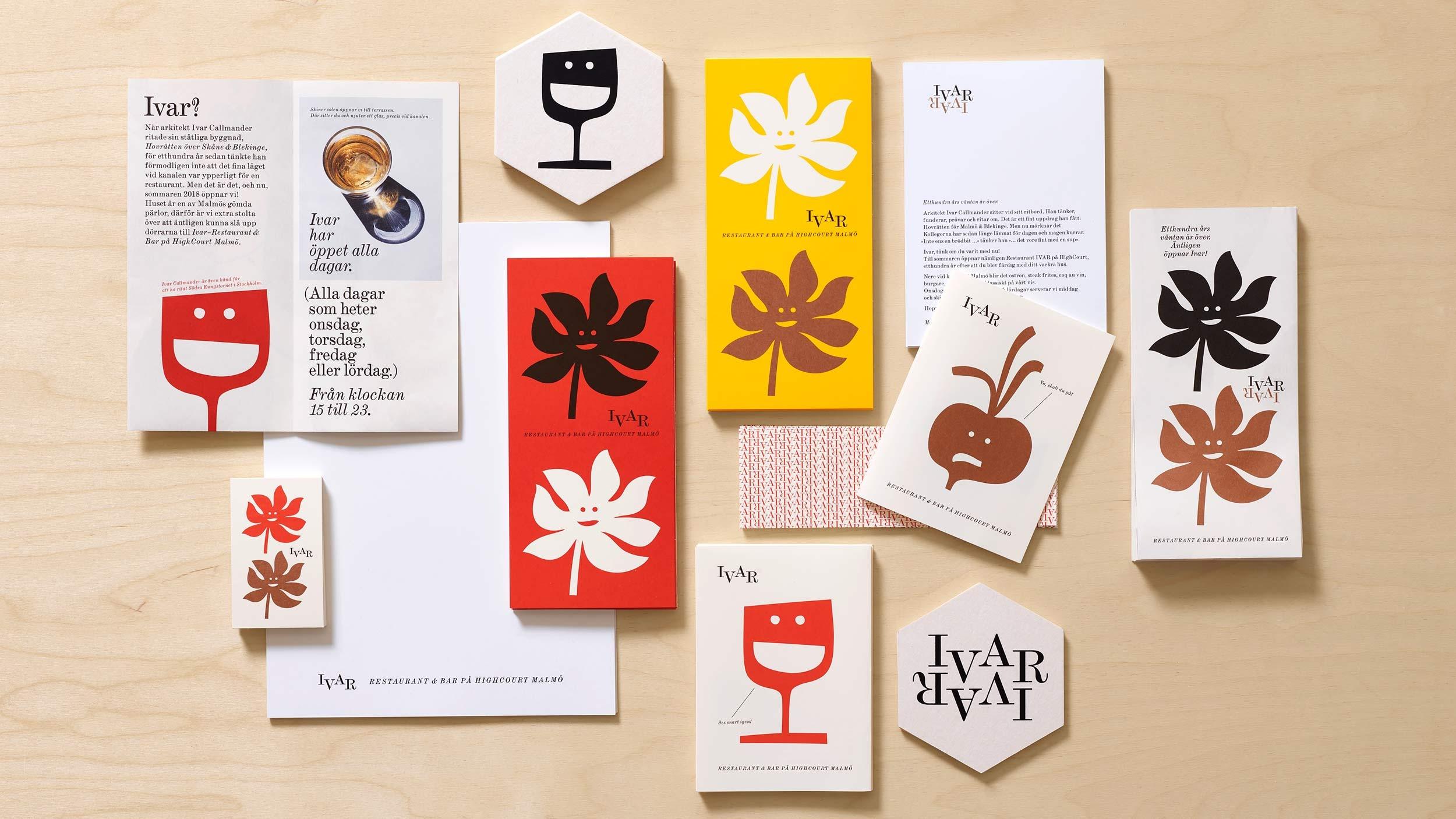 Ivar Restaurant – graphic identity